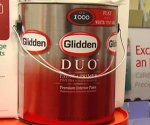 Can of Glidden DUO Paint + Primer