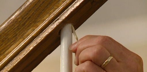 How to Repair a Loose Staircase Baluster Spindle  Todays