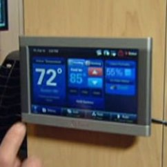 Molding On Top Of Kitchen Cabinets Wall Mounted Faucets Trane Touch Screen Programmable Thermostat | Today's Homeowner
