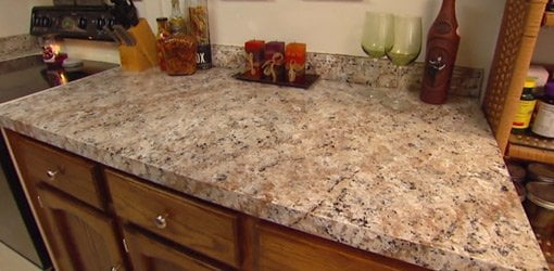 How To Apply Faux Granite Kitchen Countertop Paint Today's Homeowner
