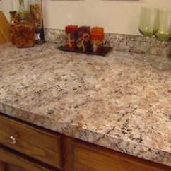 Kitchen Countertop Cover Breakfast Bar Stools How To Apply Faux Granite Paint Today S Homeowner Same After Finishing With