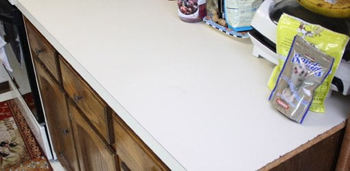 kitchen countertop cover remodel works bath & how to apply faux granite paint today s homeowner before applying finish