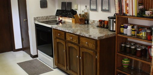 diy refinish kitchen cabinets cabinet layout tool budget countertop and update | today's ...