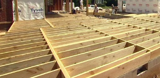 floor joist spans for home building projects