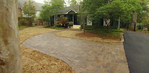fire pit and adirondack chairs posture toilet stool paver driveway concrete patio project, part 2 | today's homeowner