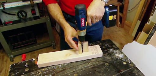 Drilling Angled Holes For Balusters