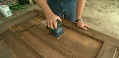 Refinishing a Stained Wood Entry Door  Todays Homeowner