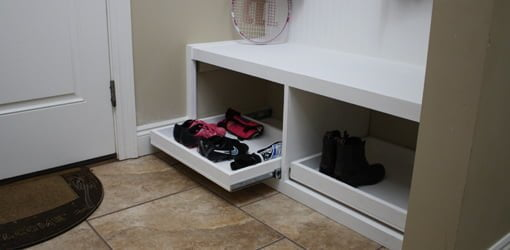 How to Make a Drop Zone Storage Bench  Todays Homeowner