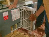 Changing AC air filter in attic. & Five Easy Air Conditioner Maintenance Tips   Todayu0027s Homeowner