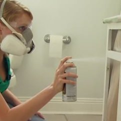Spraying Kitchen Cabinets Pull Out Shelves How To Repair And Paint Plastic Coated Melamine ...