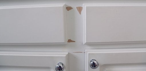 How To Repair And Paint Plastic Coated Melamine Cabinets Todays Homeowner