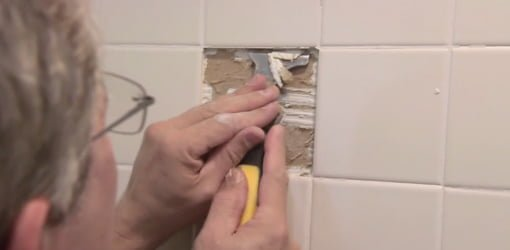 How to Replace Damaged Shower Surround Tile  Todays