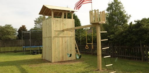 How to Build an Outdoor Wood Playset  Todays Homeowner