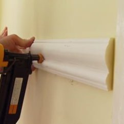 Chair Rail Corners Without Coping With Stand Up Assist How To Install Molding Today S Homeowner Installing On A Wall