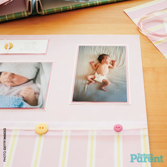 keeping a baby book