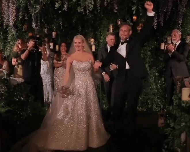 Video Jessica Simpson wedding dress dancing decor  Todays Parent