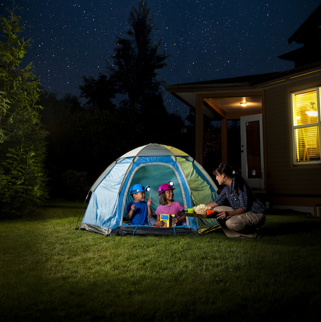 How to go camping in your backyard