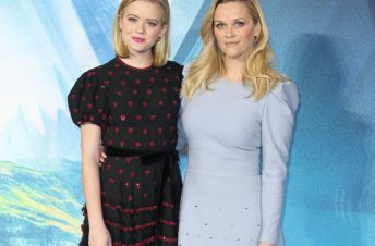 Reese Witherspoon and her daughter Ava on the red carpet