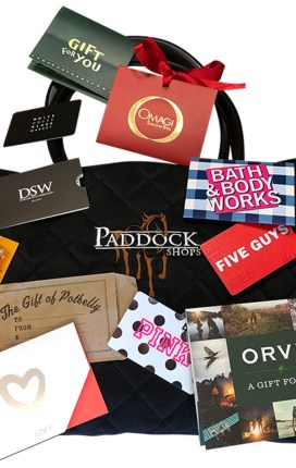Win $250 Worth of Gift Cards to the Paddock Shops!