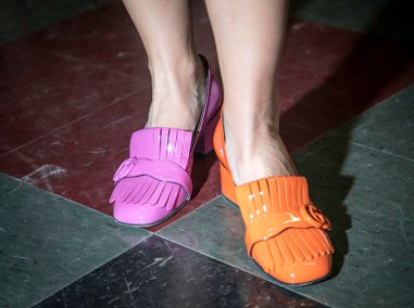 Elizabeth Sinatra of San Franciso stepped out in pink and orange Gucci heels.