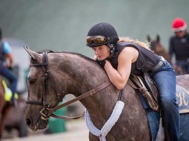 Exercise rider Hanna Sandwick.