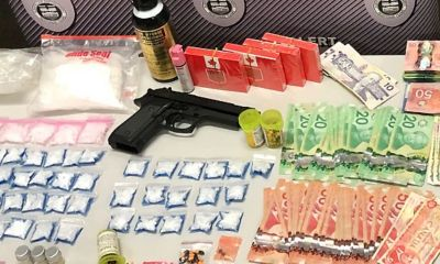 gun, drugs, money