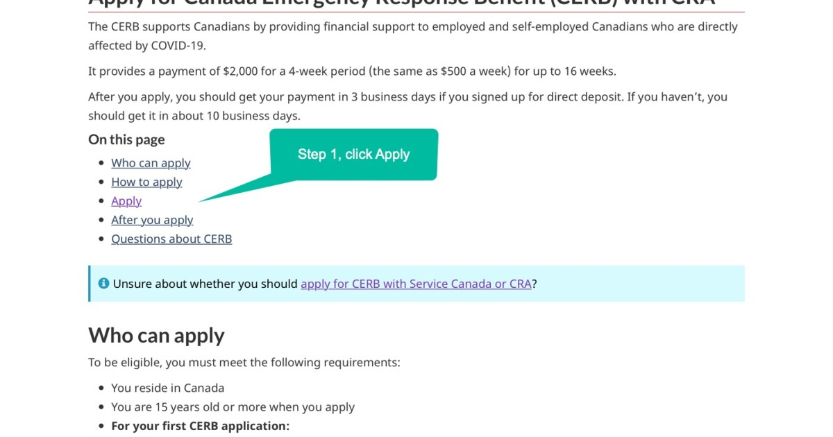 Apply for Canada Emergency Response Benefit (CERB) with ...