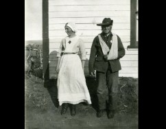 Wounded Soldier and Nurse in South Africa, Boer War