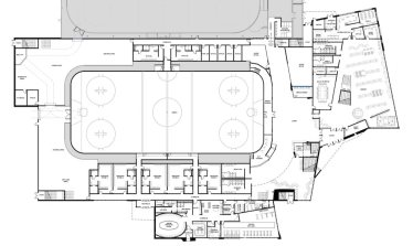 Floor plan of Arena / Library expansion