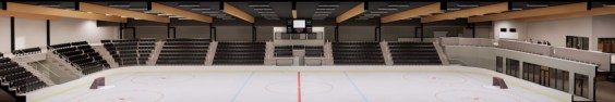 Wide view of arena / seating