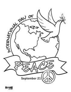 International Day of Peace 2017 Coloring pages Greetings
