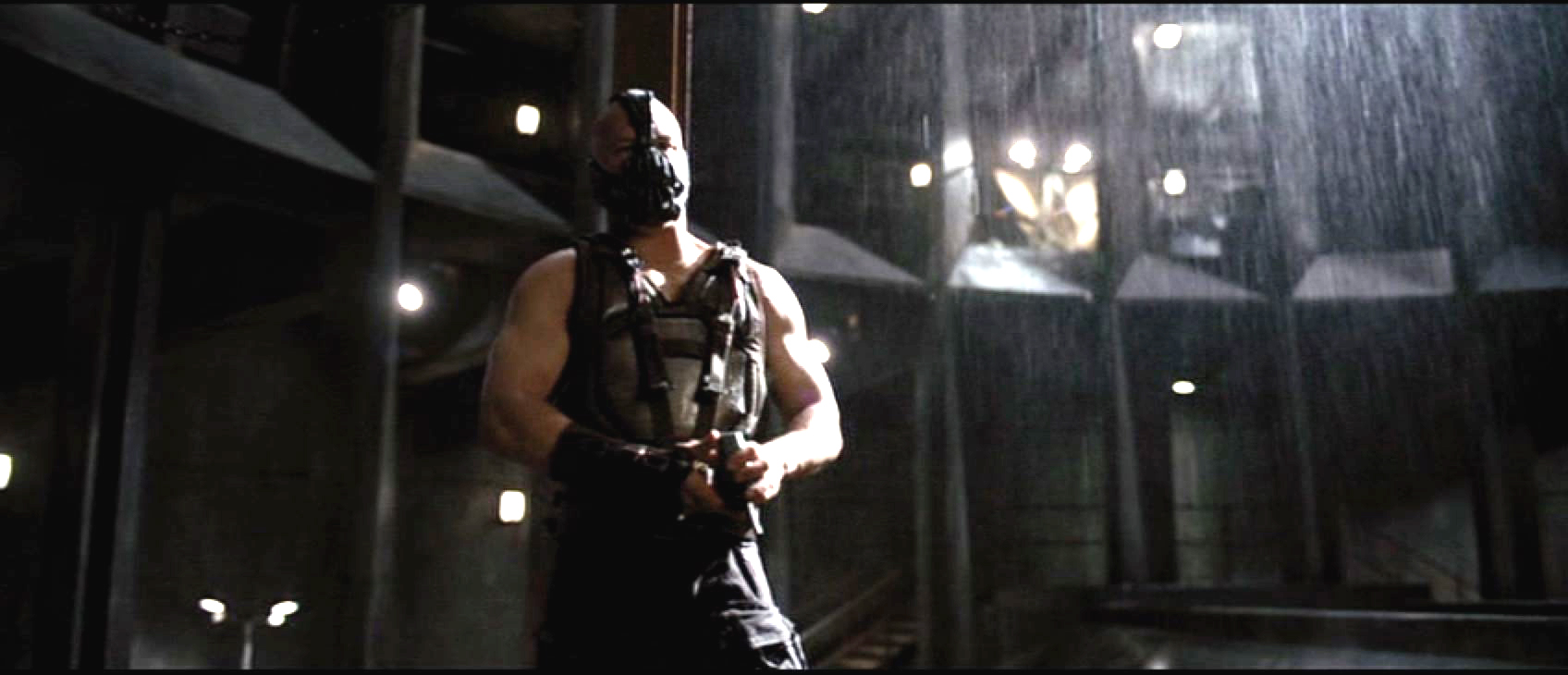 Image result for bane breaks batman the dark knight rises