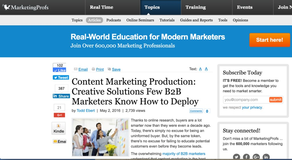 todd ebert on content marketing production