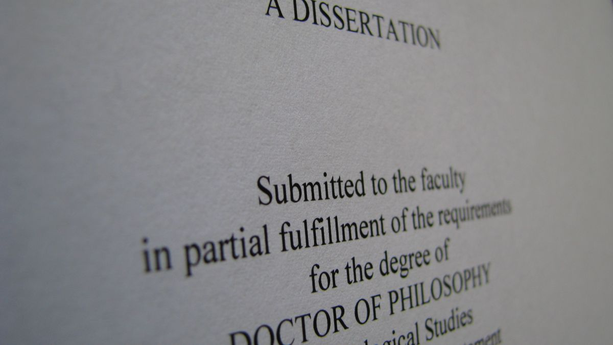 Dissertation Template: Back it Up!