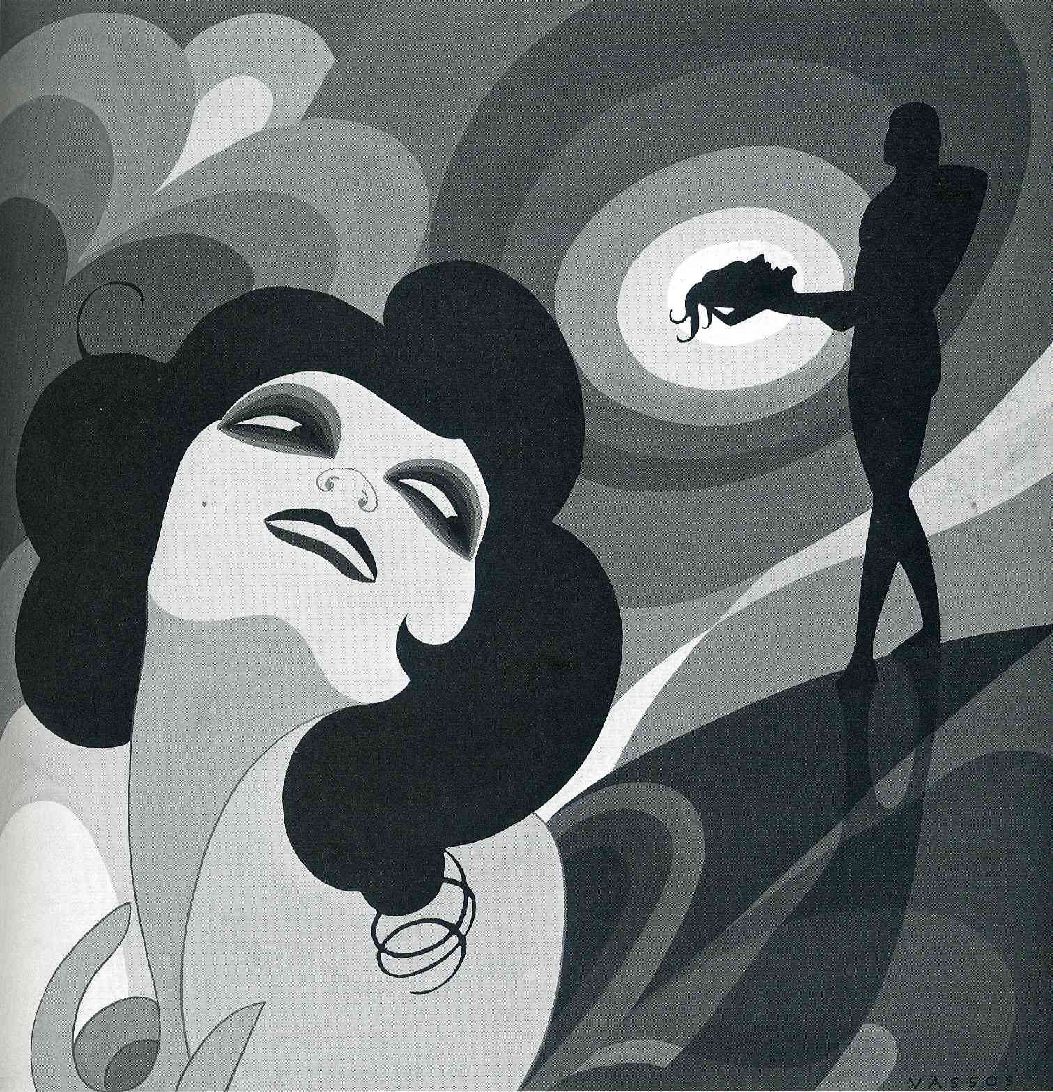 "Illustration for Oscar Wilde's ""Salome"". Art Decom 1927"