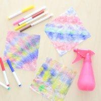 Paper Towel Tie Dye Activity