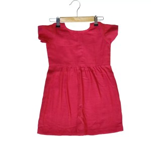 Red frock back