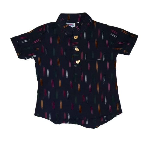 black ikat shirt