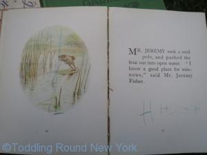 My uncle Hugh's old copy of 'The Tale of Jeremy Fisher'