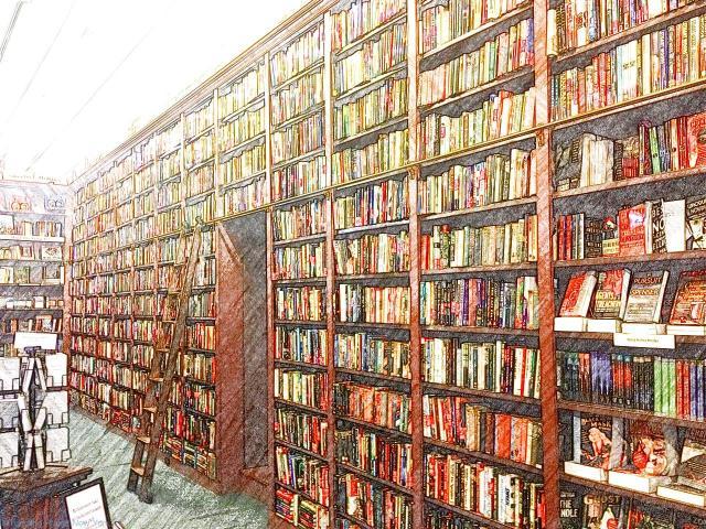 Floor to ceiling books - delicious