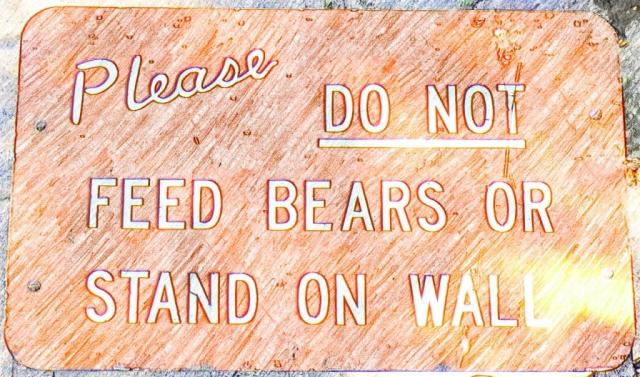 Do not feed the bears