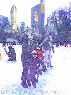 Wonderful day out at Central Park ice rink