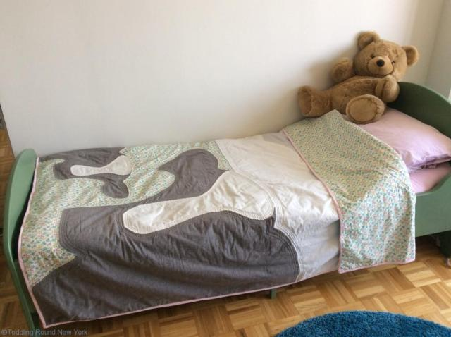Put to good use on T's toddler bed