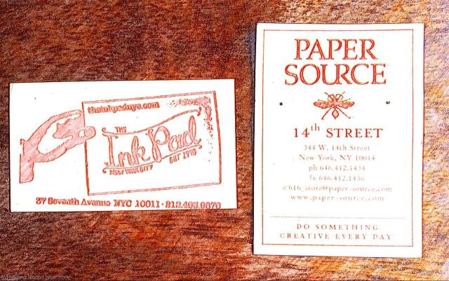 The Paper Source and The Ink Pad - my two favourite stationers