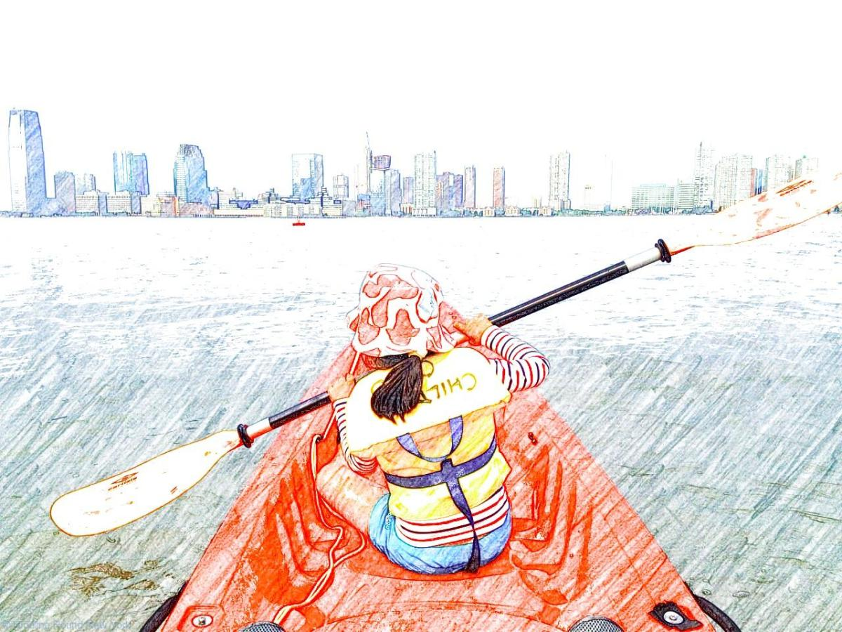 Free kayaking on the Hudson - fantastic family outing