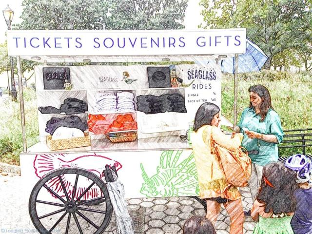 Seaglass' ticket and souvenir booth - Carousels