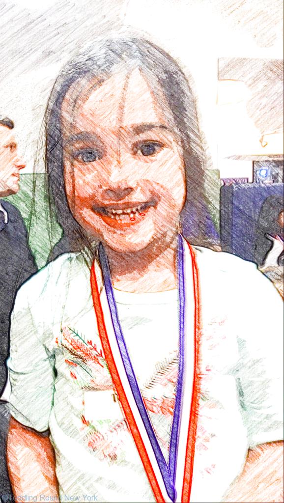 First gymnastics medal