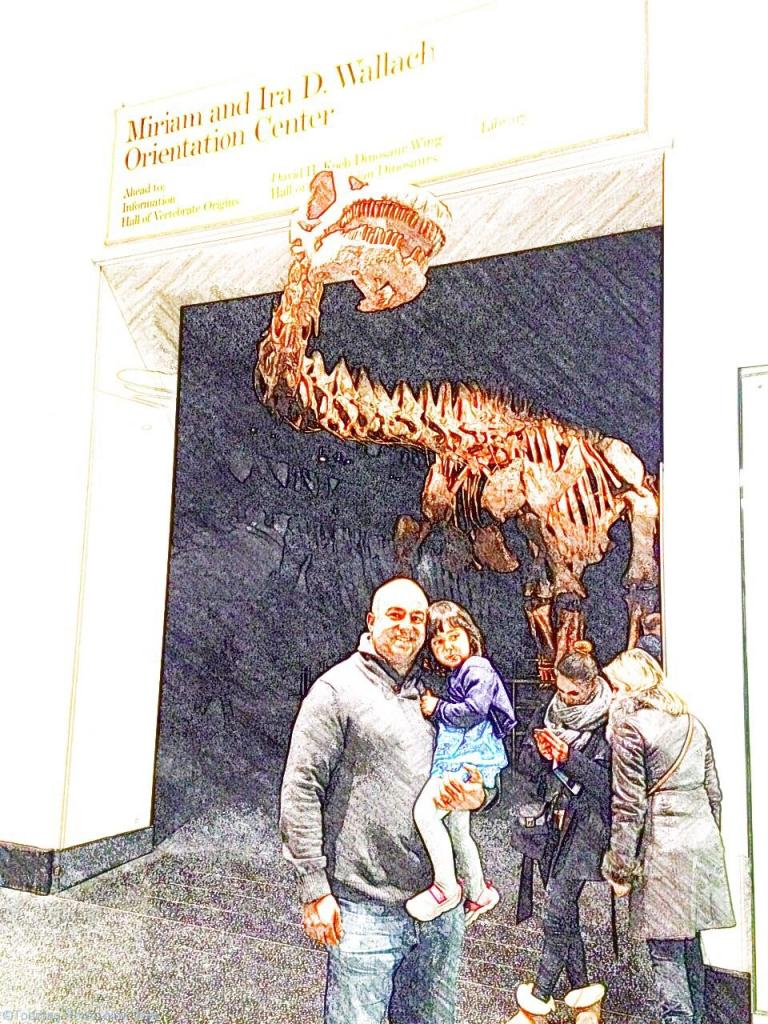 C, B & the Titanosaur at the American Museum of Natural History