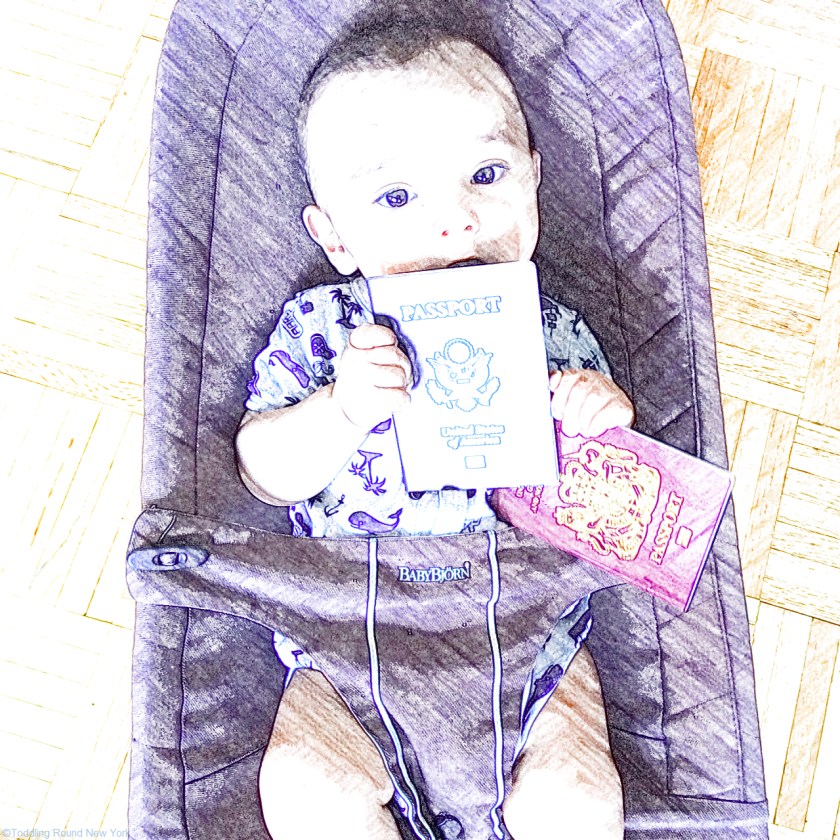 I had to take about 20 shots before I got this image! Baby J with both his US and British passports