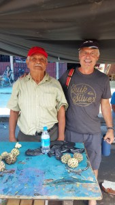 My friend at the Farmer's Market in Bahia de Caraquez
